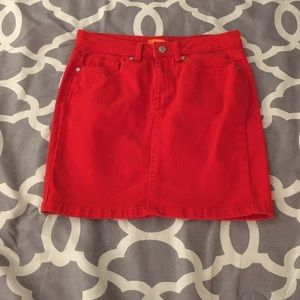 Red jean skirt ❤️