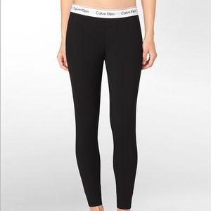 NWT! Calvin Klein Black Cotton Pajama Leggings