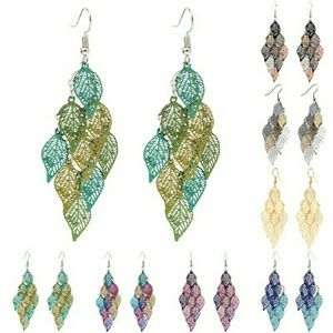 Fall Colors Leaf Dangle Earrings