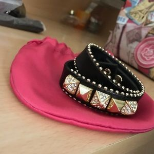 Wrap Around Juicy Couture Leather Studded Bracelet