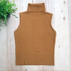 Kenzie sleeveless turtleneck | toffee