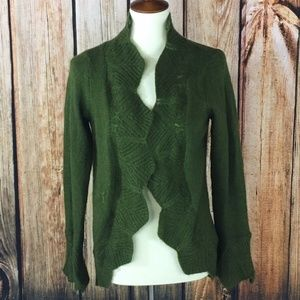 CAbi #697 Womens Size Small Chelsea Green Mohair