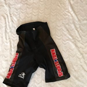 Black biking shorts