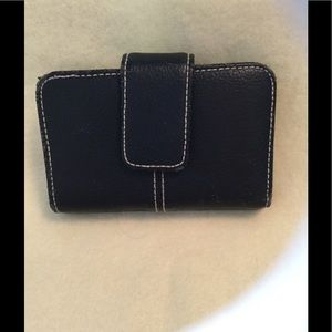 BLACK FOLD OVER WALLET