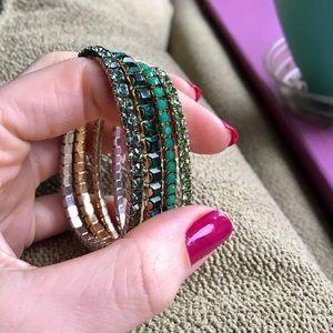 Swarovski Green Crystal Lightning Stretch Bracelet