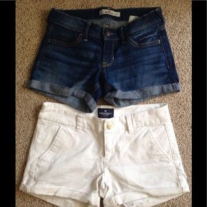 Two pair of cute, trendy short shorts