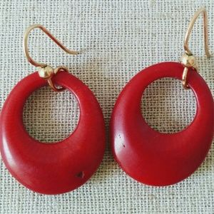 Real Red Coral 14kt Gold Earrings