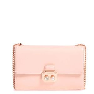 Ted Baker London Leather Chain Strap Bag Natural