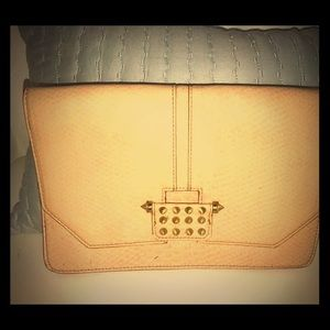 RACHEL faux leather clutch