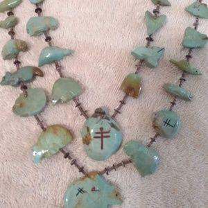 Vintage Native American Zuni Pueblo Necklace