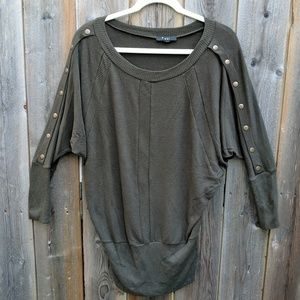 Army Green Edgy Tunic