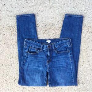 J. Crew Medium Wash Stretch Skinny Jeans