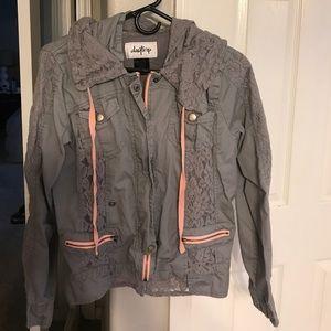 Slate blue Hooded jacket
