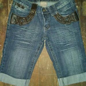 B.B jean capri shorts .