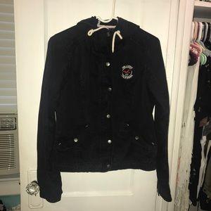Hollister Jacket used size large navy
