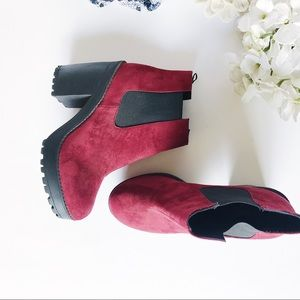 H&M Divided Suede Platform Ankle Boot