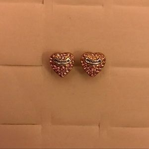 Juicy Couture Heart with pink diamond Earrings