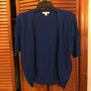 NY & co blue short sleeved sweater size L