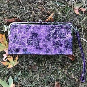 Galaxy print clutch/wallet