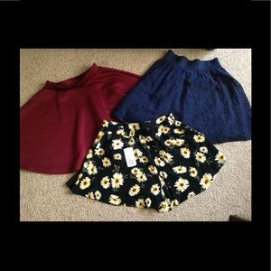 Cute-2 skirt and 1 short set