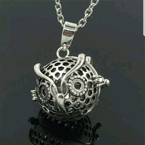 Owl Aromatherapy Diffuser Locket Necklace