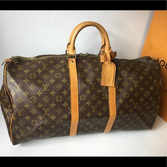 e72ba47bc4d2 Louis Vuitton Handbags - 100% Authen Louis Vuitton 1984 Vintage Keepall 55