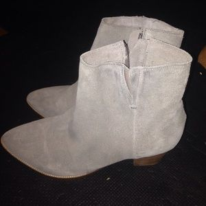 Matisse Booties. Grey. Never worn!