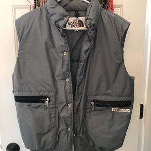 Vintage North Face puffy vest small grey