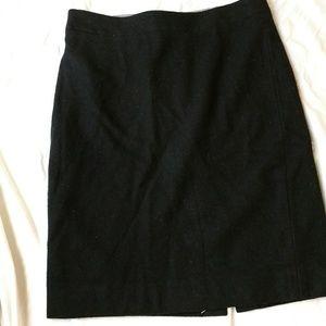 J. Crew the pencil skirt black wool
