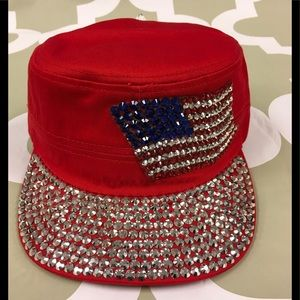 USA Flag Bling Cadet Hat