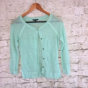 American Eagle Outfitters Green Cardigan Sz S