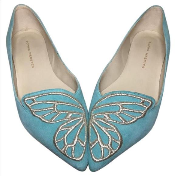 c42787fdc6ef Sophia Webster BiBi Butterfly suede point-toe flat.  M 59cfcc1f4225be8abd0559aa