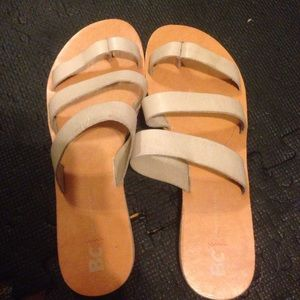 BC LEATHER SLIDES genuine leather. Never worn