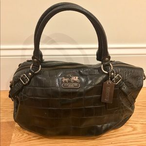 All Leather Coach Satchel