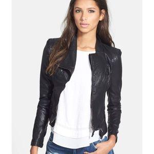BlankNYC Vegan Leather Moto Slim Jacket Fitted XS