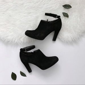 Tahari Black Heeled Booties with Ankle Strap