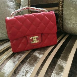 Quilted square purse