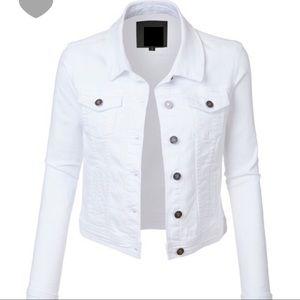 Jackets & Blazers - NWT white denim jacket