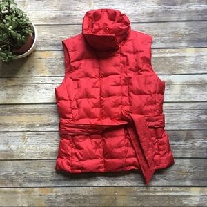 Talbots Petite Puffer Vest with stitch detailing