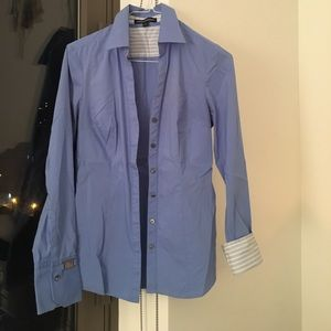 Express button down collared shirt