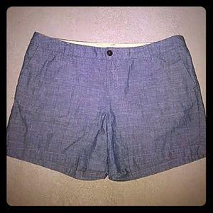 Light blue heathered denim shorts Merona