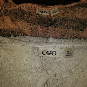 Lot of 2 Women's SS Cato Sweaters XL