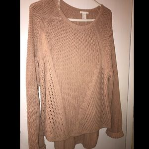 Dusty rose colored sweater