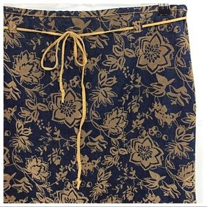Dresses & Skirts - Faux Suede Embossed Denim Skirt