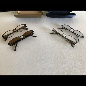 4 pair of eyeglasses & 2 cases-pre owned