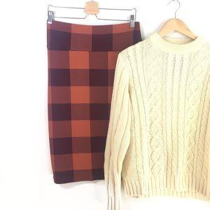 Plaid Pencil Skirt, NEW by LuLaRoe w/tag