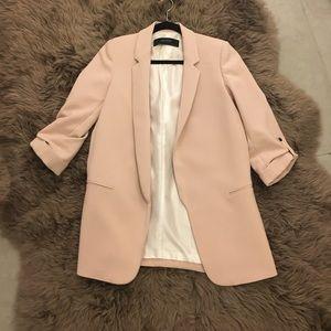 Light pink zara blazer