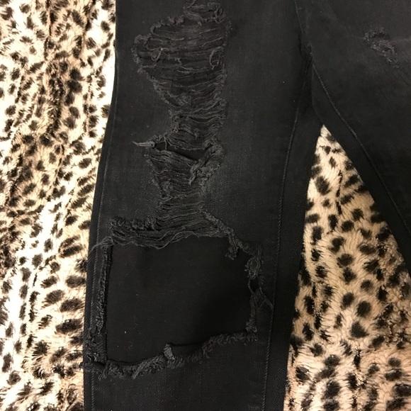 Carmar Jeans - Carmar Black Stone distressed high rise jeans !