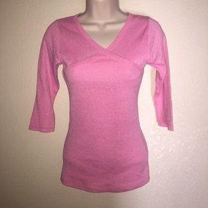 Michael Stars pink 3/4 length top