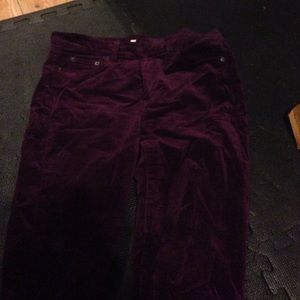 JCREW VELVET SKINNY PANTS